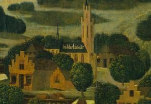 Afbeelding Dubbelmonde op het paneel St.Elisabethsvloed