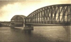 Historische weergave van de Heusdense brug