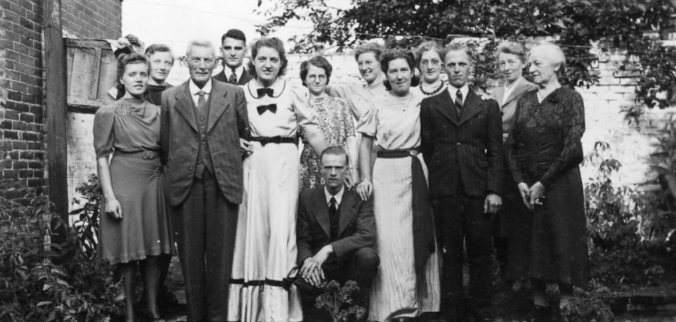 Trouwfoto familie Oosterhoff