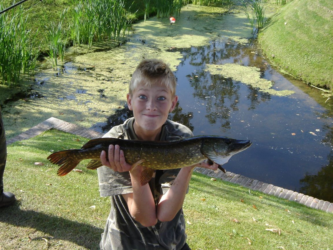Barend enjoice his catch