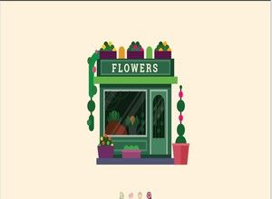 Buy your flowers in this beautiful shop