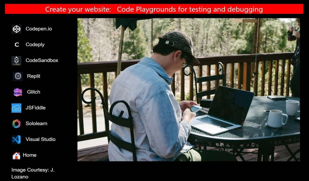 Coding playgrounds