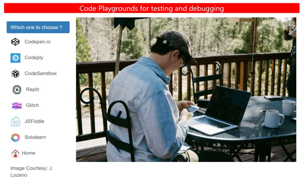 Web development playgrounds