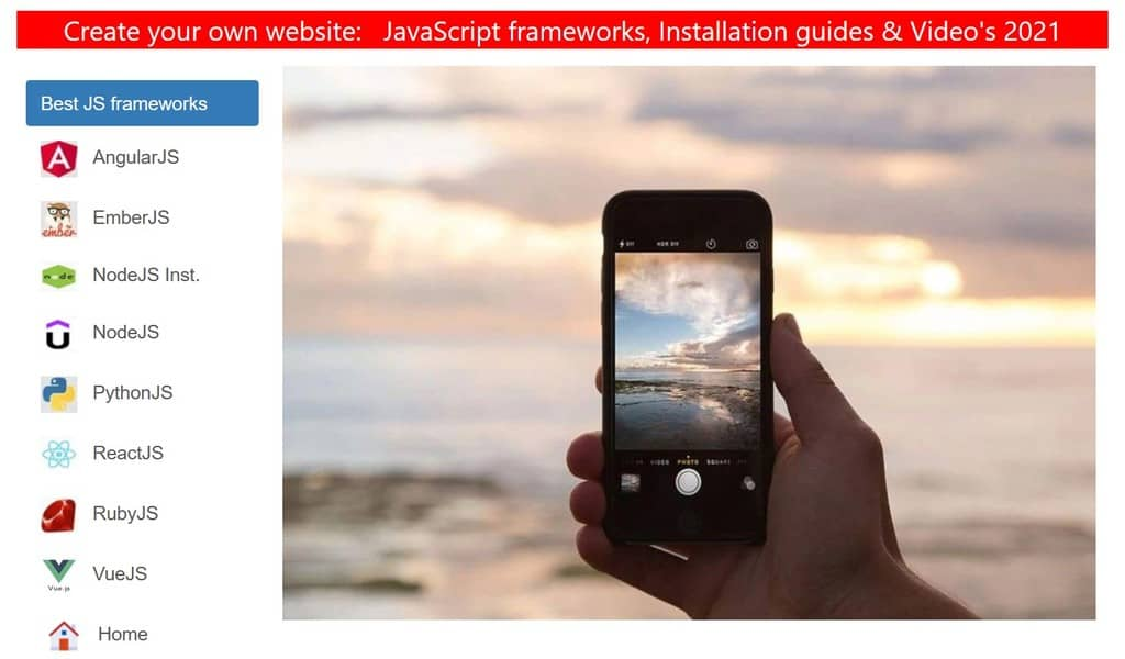 JS Frameworks Video tutorials