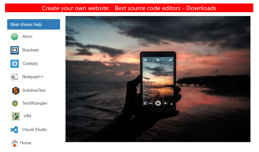 Coding examples, resonsive images