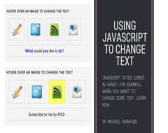 Javascript to change text