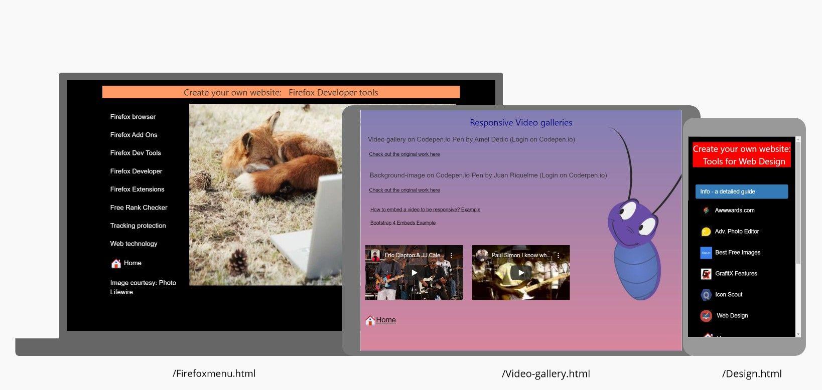 Firefoxmenu.html - Video-gallery.html - Webdesign.html
