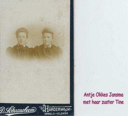 Oma Okkes Jansma en Tine haar zus