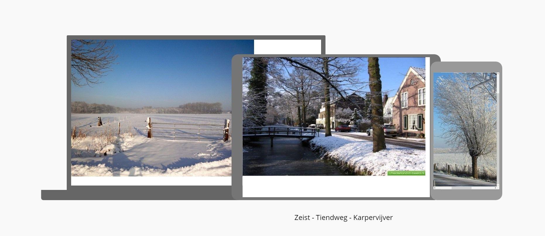 Winter - Tiendweg - Karpervijver - Tiendweg Zeist