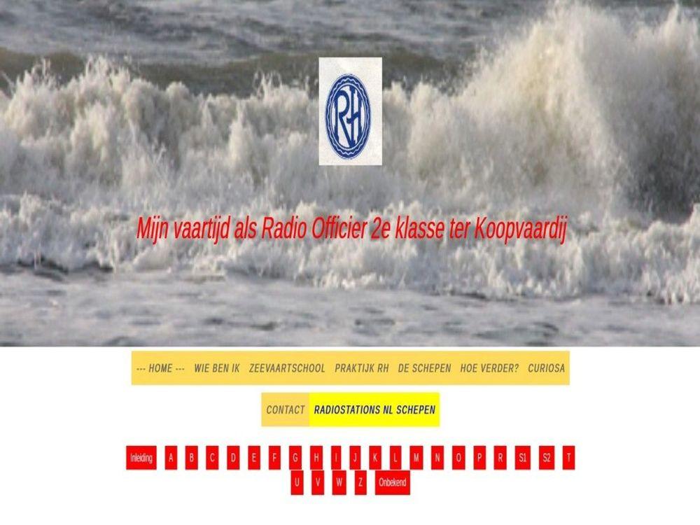 Mijn vaartijd Website Peter Verburg (Dutch)