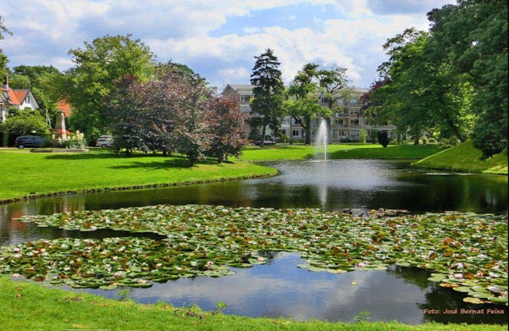 Wilheminapark with fountain